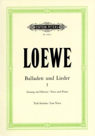 Carl Loewe - Balladen Und Lieder Volume 1. Voix Grave - Partition - di-arezzo.fr