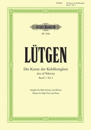 Lütgen - Die Kunst Der Kehlfertigkeit Volume 1. High Voice - Sheet Music - di-arezzo.com