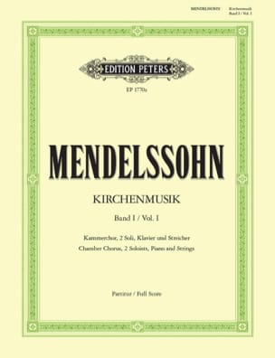 MENDELSSOHN - Kirchenmusik - Volume 1 - Sheet Music - di-arezzo.co.uk