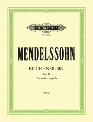 MENDELSSOHN - Kirchenmusik Volume 2 - Partition - di-arezzo.co.uk