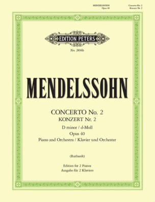 MENDELSSOHN - Concerto No. 2 In D Minor Opus 40 - Sheet Music - di-arezzo.com
