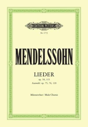 Lieder pour Choeur d'Hommes MENDELSSOHN Partition Chœur - laflutedepan
