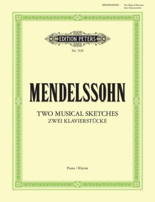 2 Musical Sketches - Mendelssohn - Partition - laflutedepan.com