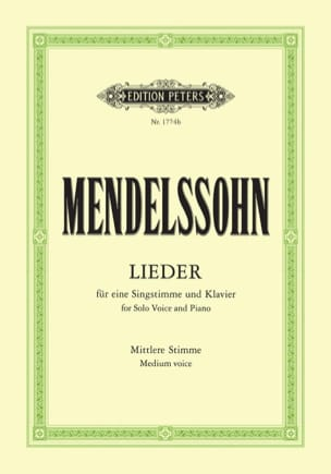 MENDELSSOHN - Sämtliche Lieder. Mean Voice - Sheet Music - di-arezzo.co.uk
