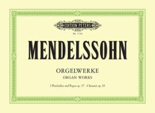 MENDELSSOHN - Sämtliche Orgelwerke - Sheet Music - di-arezzo.co.uk
