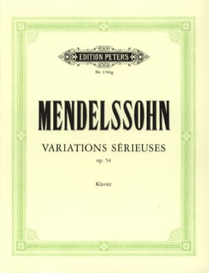 17 Variatiations Sérieuses Opus 54 - MENDELSSOHN - laflutedepan.com