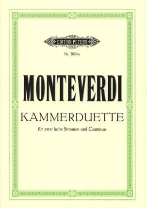 6 Kammer-Duette Claudio Monteverdi Partition Duos - laflutedepan