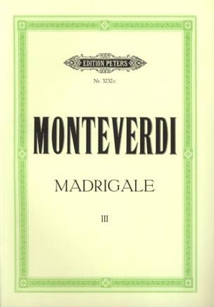 Madrigale. Volume 3 MONTEVERDI Partition Chœur - laflutedepan