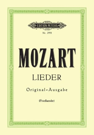 MOZART - 29 Lieder. Aloud - Sheet Music - di-arezzo.co.uk