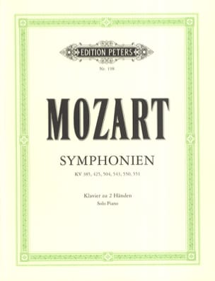 6 Symphonien - MOZART - Partition - Piano - laflutedepan.com