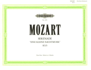 MOZART - Eine Kleine Nachtmusik K 525 4 Hands - Sheet Music - di-arezzo.co.uk