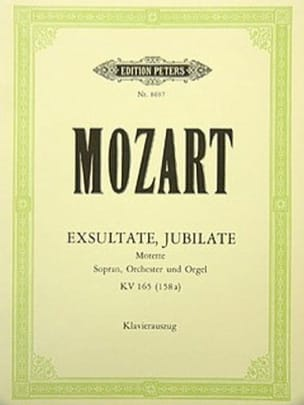 MOZART - Exsultate Jubilate. Kv 165 158a - Sheet Music - di-arezzo.co.uk