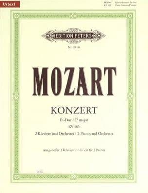 Concerto Pour Piano N° 10 En mi bémol Majeur Pour 2 Claviers KV 365 - laflutedepan.com