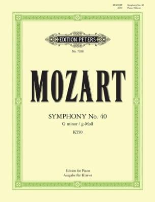 MOZART - Symphonie n° 40 KV 550 - Partition - di-arezzo.fr