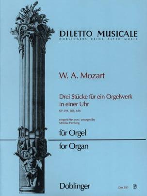 3 Stücke. - MOZART - Partition - Orgue - laflutedepan.com