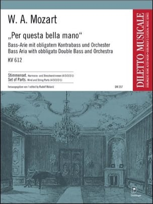 MOZART - Per Questa Bella Mano KV 612 - Sheet Music - di-arezzo.co.uk