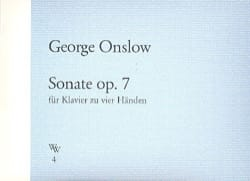 George Onslow - Sonate Op. 7 - Partition - di-arezzo.fr