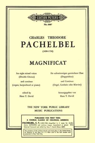 Charles Théodore Pachelbel - Magnificat En Ut Majeur - Partition - di-arezzo.fr
