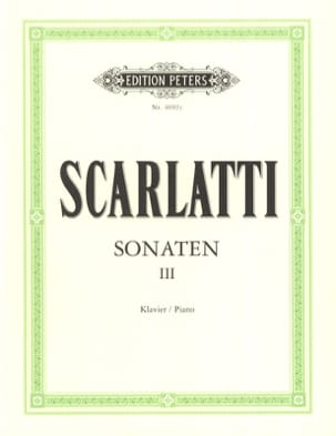 Domenico Scarlatti - Sonates Volume 3 - Partition - di-arezzo.fr