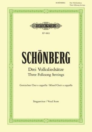 3 Volksliedsätze Arnold Schoenberg Partition Chœur - laflutedepan