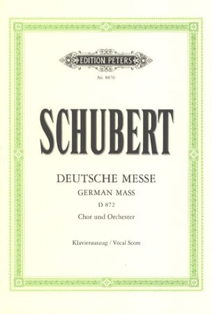 SCHUBERT - Deutsche Messe D 872 - Sheet Music - di-arezzo.com