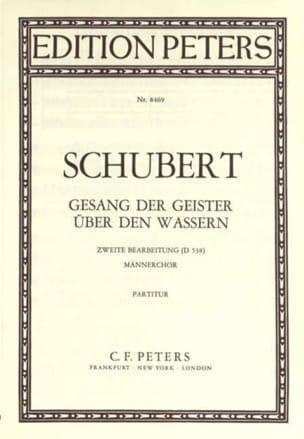 Franz Schubert - Gesang Der Geister Uber Den Wassern D 538 (Choeur D'hommes) - Partition - di-arezzo.fr