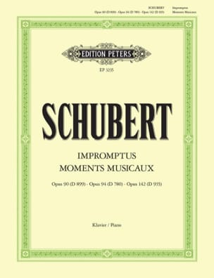 Impromptus et Moments Musicaux SCHUBERT Partition Piano - laflutedepan