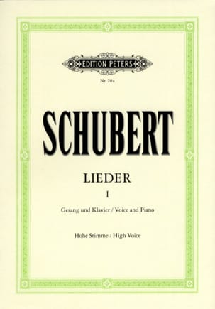 SCHUBERT - Lieder Volume 1 - High Voice - Sheet Music - di-arezzo.co.uk