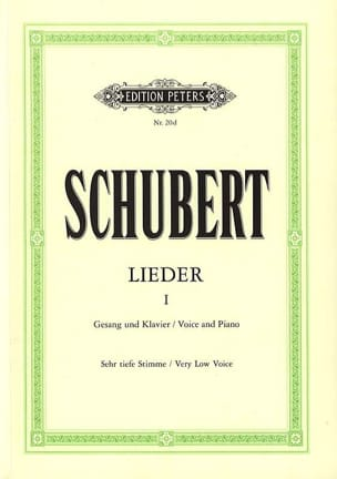 SCHUBERT - Lieder Volume 1 - Very Serious Voice - Sheet Music - di-arezzo.co.uk