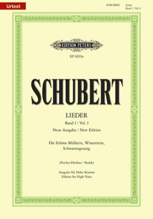 SCHUBERT - Lieder Vol. 1 High Voice - Fischer-Dieskau - Sheet Music - di-arezzo.com
