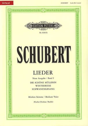 SCHUBERT - Lieder Vol. 1 Mean Voice - Fischer-Dieskau - Partitura - di-arezzo.it