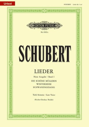 Lieder Vol. 1 Voix Grave - Fischer-Dieskau SCHUBERT laflutedepan