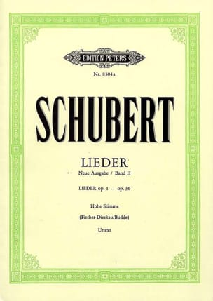 SCHUBERT - Lieder Vol. 2 Mean Voice - Fischer-Dieskau - Noten - di-arezzo.de
