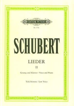SCHUBERT - Lieder Volume 2 - Voix Grave - Partition - di-arezzo.fr
