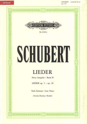 Lieder Vol. 2 Voix Grave - Fischer-Dieskau SCHUBERT laflutedepan