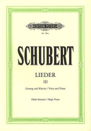 SCHUBERT - Lieder Band 3 - Hohe Stimme - Noten - di-arezzo.de