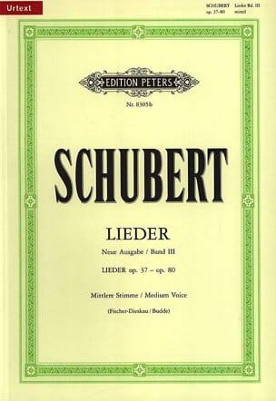 Franz Schubert - Lieder Volume 3 Voix Moyenne (Fischer-Dieskau) - Partition - di-arezzo.fr
