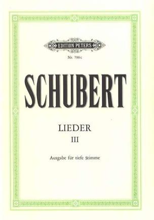 Franz Schubert - Lieder Volume 3. Voix Grave - Partition - di-arezzo.fr