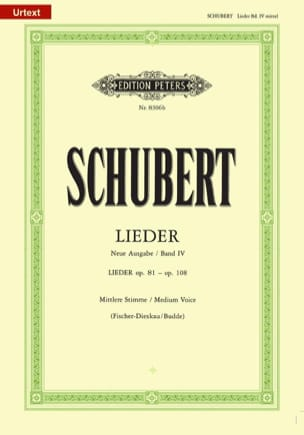 Lieder Volume 4 Voix Moyenne - Fischer-Dieskau - laflutedepan.com