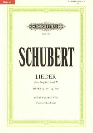 Lieder Vol. 4 Voix Grave - Fischer-Dieskau - laflutedepan.com