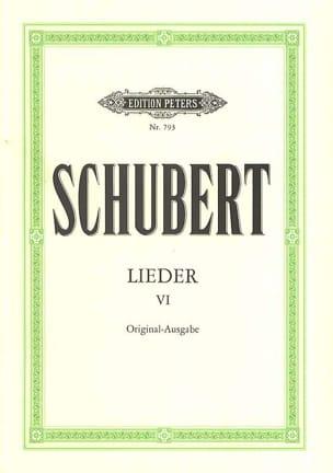 Franz Schubert - Lieder Volume 6 - Partition - di-arezzo.fr