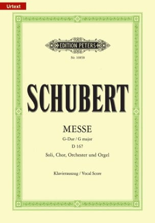 SCHUBERT - Mass in G Major D 167 - Sheet Music - di-arezzo.co.uk