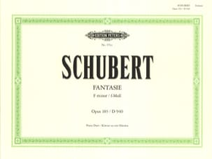 SCHUBERT - Fantasy In F Minor Opus 103. D 940 4 Hands - Sheet Music - di-arezzo.co.uk