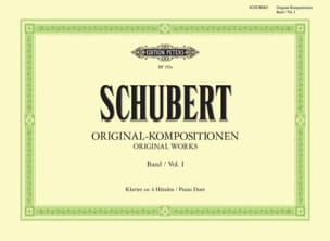 Franz Schubert - Original Kompositionen Volume 1. 4 Mains - Partition - di-arezzo.fr