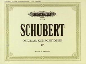 Original Kompositionen Volume 4. 4 Mains - SCHUBERT - laflutedepan.com
