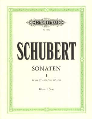 Sonates Volume 1 SCHUBERT Partition Piano - laflutedepan
