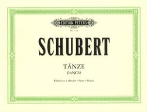 Tänze. 4 mains - Franz Schubert - Partition - Piano - laflutedepan.com