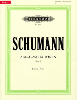 Abegg-Variations Opus 1 - SCHUMANN - Partition - laflutedepan.com