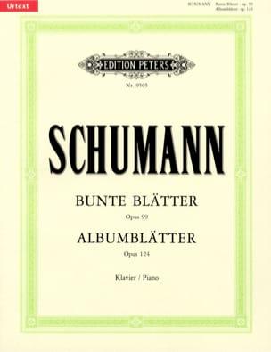 Robert Schumann - Albumblätter Opus 124. Bunte Blatter Opus 99 - Partition - di-arezzo.fr