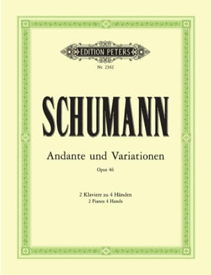SCHUMANN - Andante and Variations Opus 46. 2 Pianos - Sheet Music - di-arezzo.com